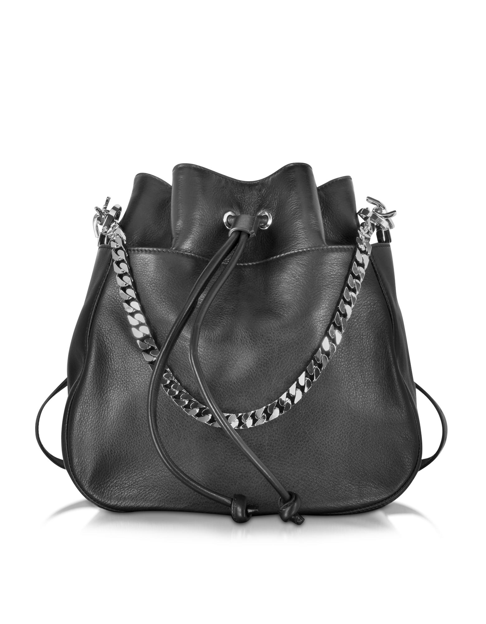 Babe Wire Black Leather Backpack - DSquared2