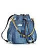 Babe Wire Denim and Leather Backpack - DSquared2