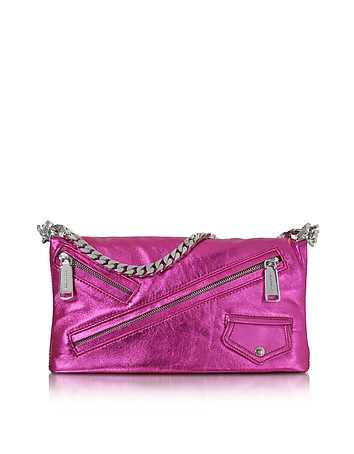 DSquared2 - Babe Wire Fuchsia Laminated Nappa Leather Foldable Clutch