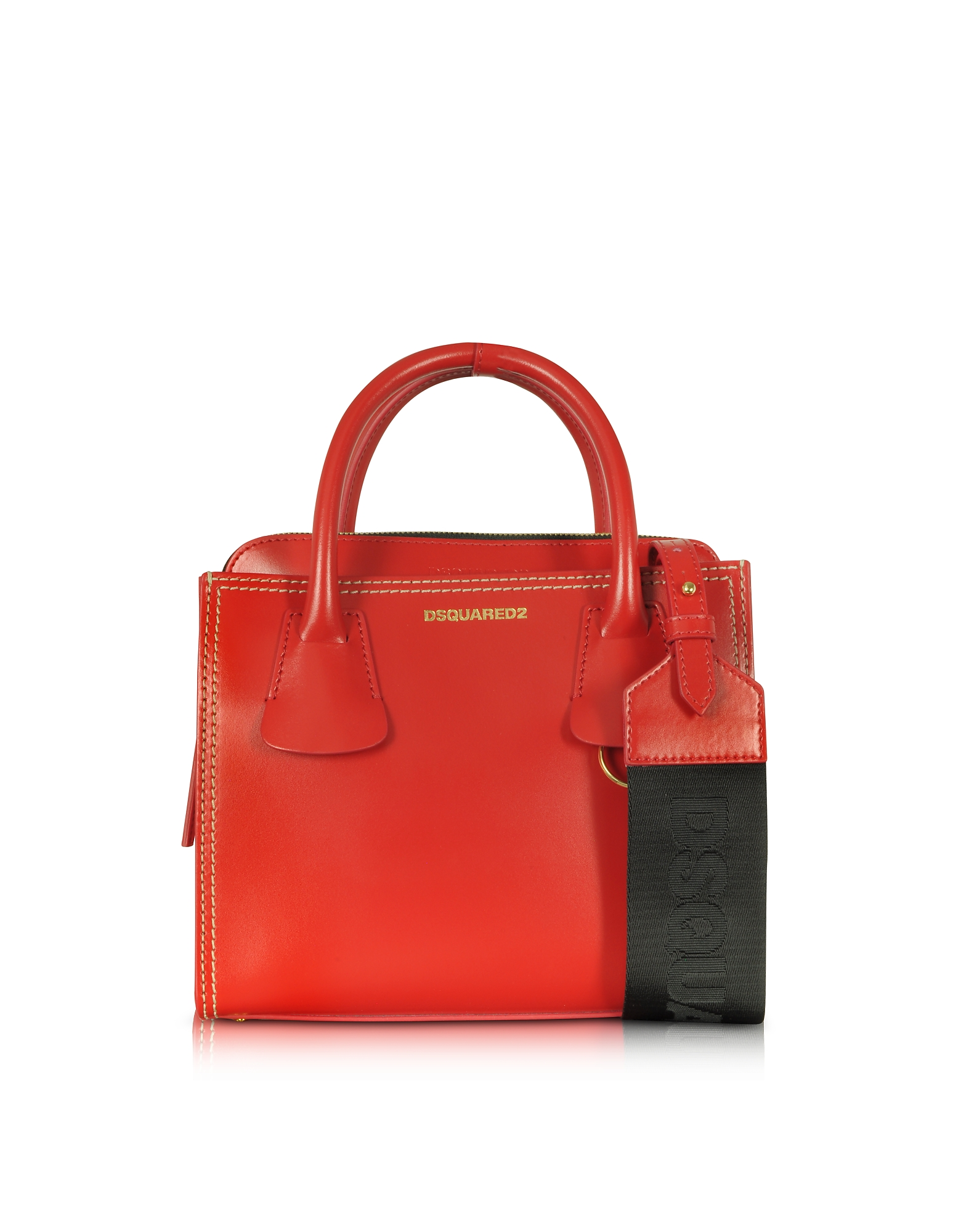 DSquared2 Handbags, Deana Small Red Leather Satchel