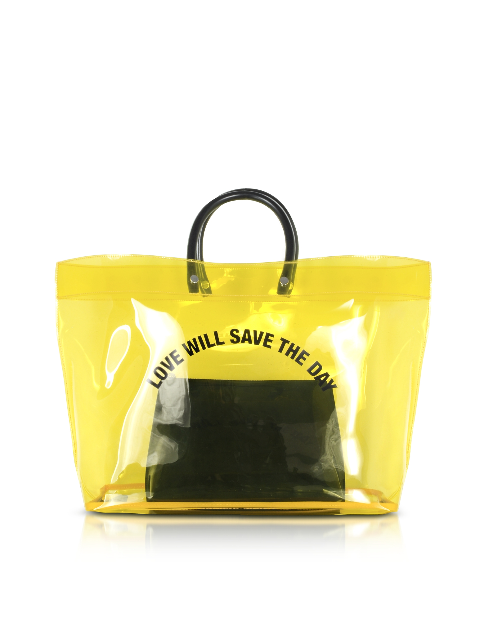 DSquared2 Handbags, Love Will Save the Day Yellow Medium Tote Bag