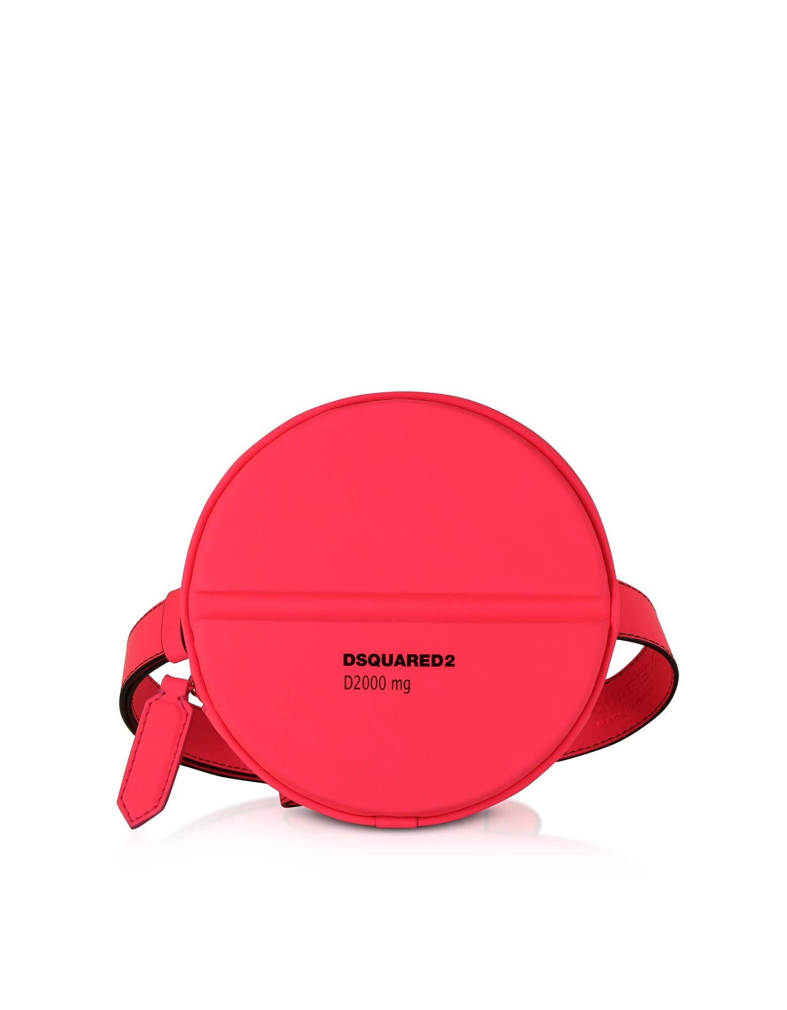 Neon Pink Gommato Leather Pill Crossbody/Belt Bag