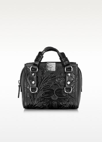 Quebec Black Leather Mini Shoulder Bag - DSquared2