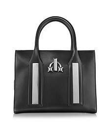 Twin Peaks Black Leather Tote Bag - DSquared2