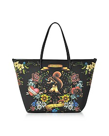 Black Tattoo Print Neoprene Tote Bag - DSquared2