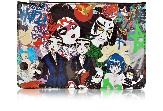 Multicolor Manga Print Flat Clutch - DSquared2