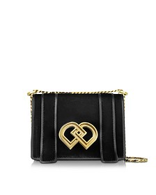 DD Medium Black Velvet Shoulder Bag - DSquared