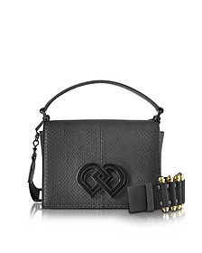 Black Leather and Ayers Medium Shoulder Bag - DSquared