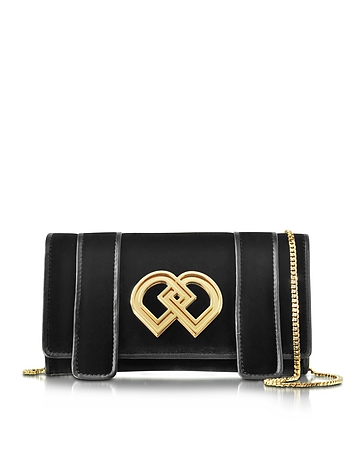 DD Black Velvet Clutch
