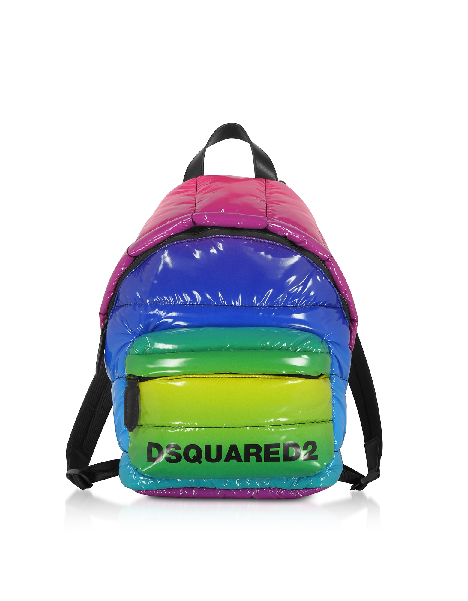 Small Rainbow Quilted Vinyl Backpack
