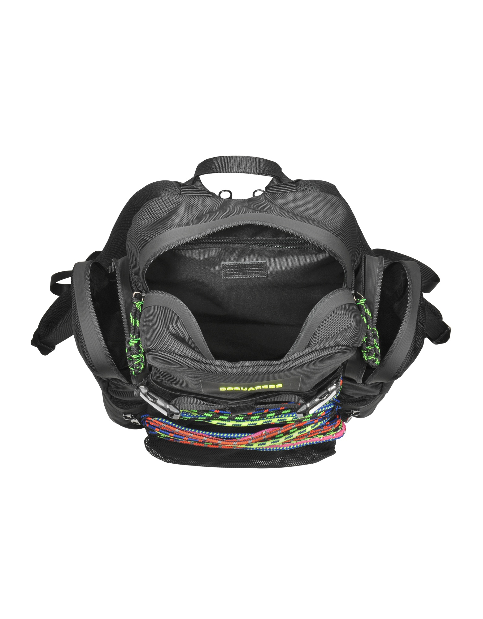 Small Black Fabric Backpack от Forzieri.com INT