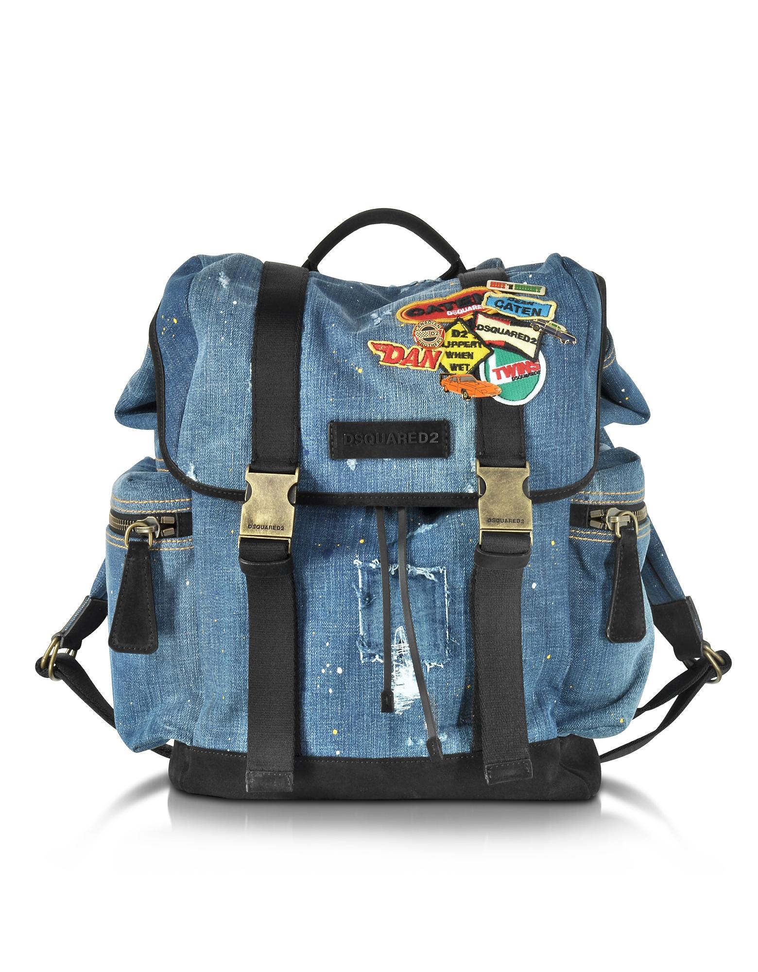 Рюкзак из Денима с Нашивками