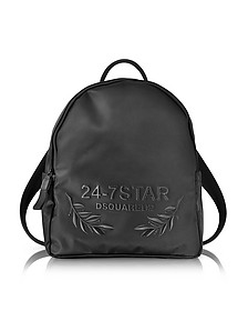 24-7 Star Icon Black Nylon Backpack - DSquared2