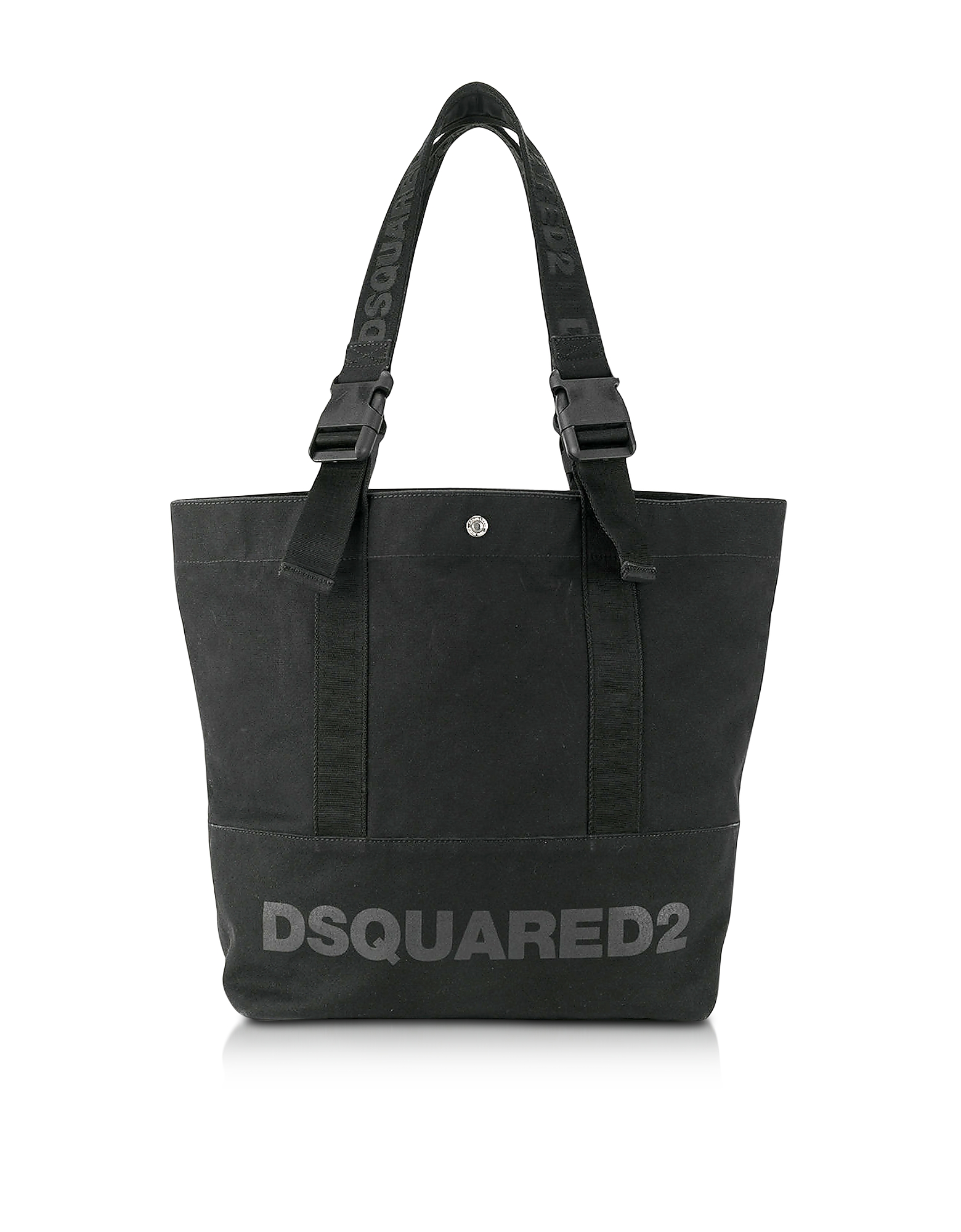 DSquared2 Men's Bags, Black Canvas Vertical Shopping Bag w/Funny Handles