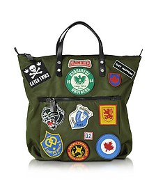 Hiro Military Green Patchwork Men's Tote Bag - DSquared2