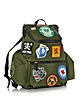 Hiro Military Green Patchwork Men's Backpack - DSquared2