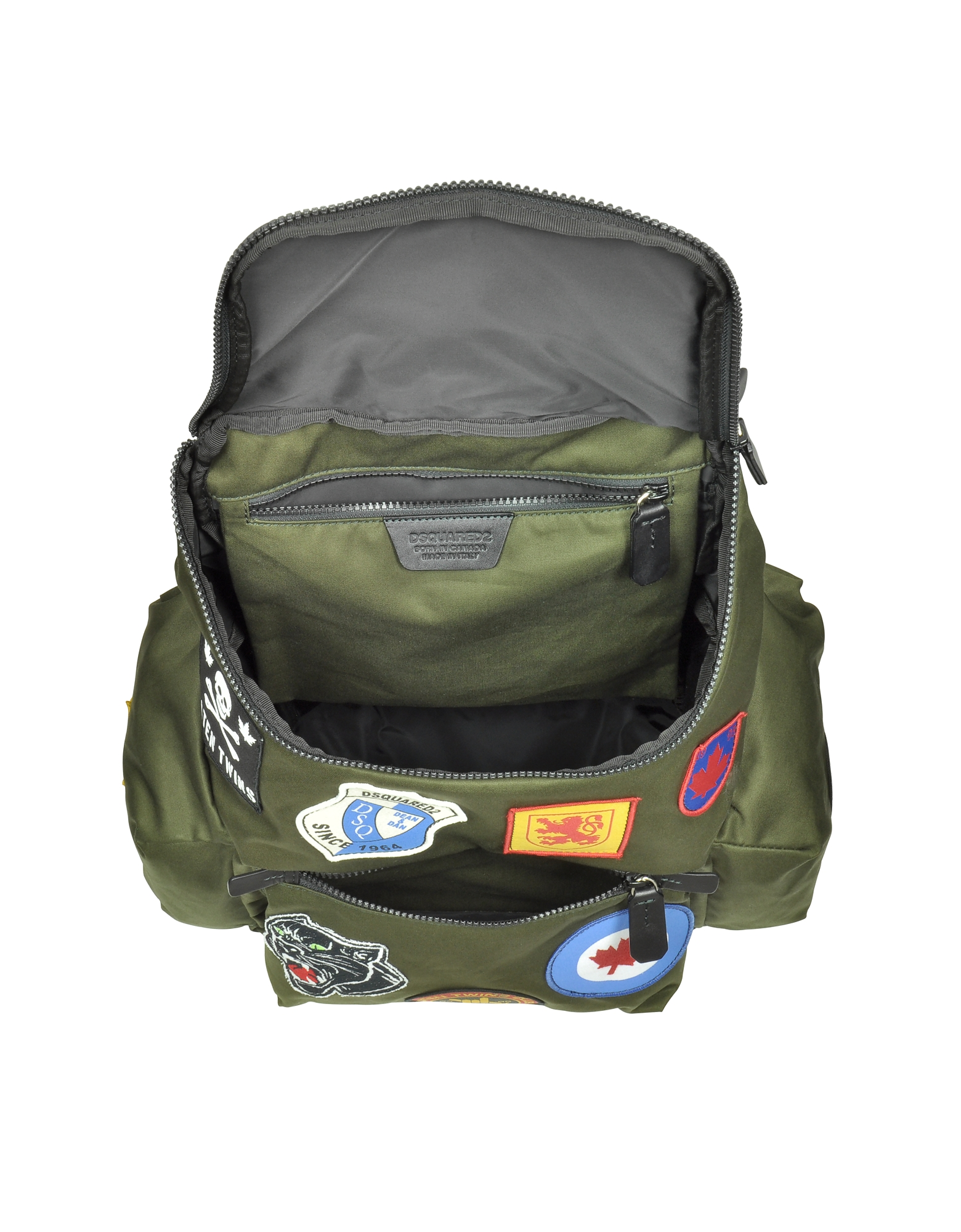 Hiro Military Green Patchwork Men's Backpack от Forzieri.com INT