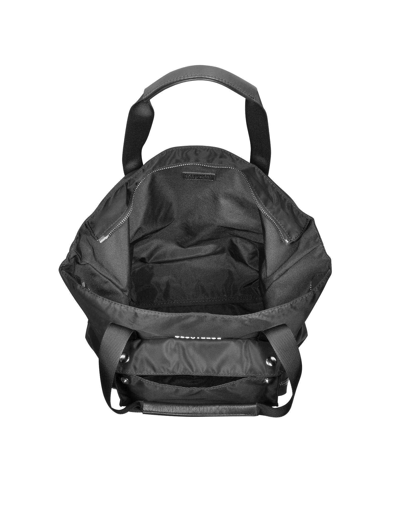 Utilitary Black Nylon Shopping Bag от Forzieri.com INT