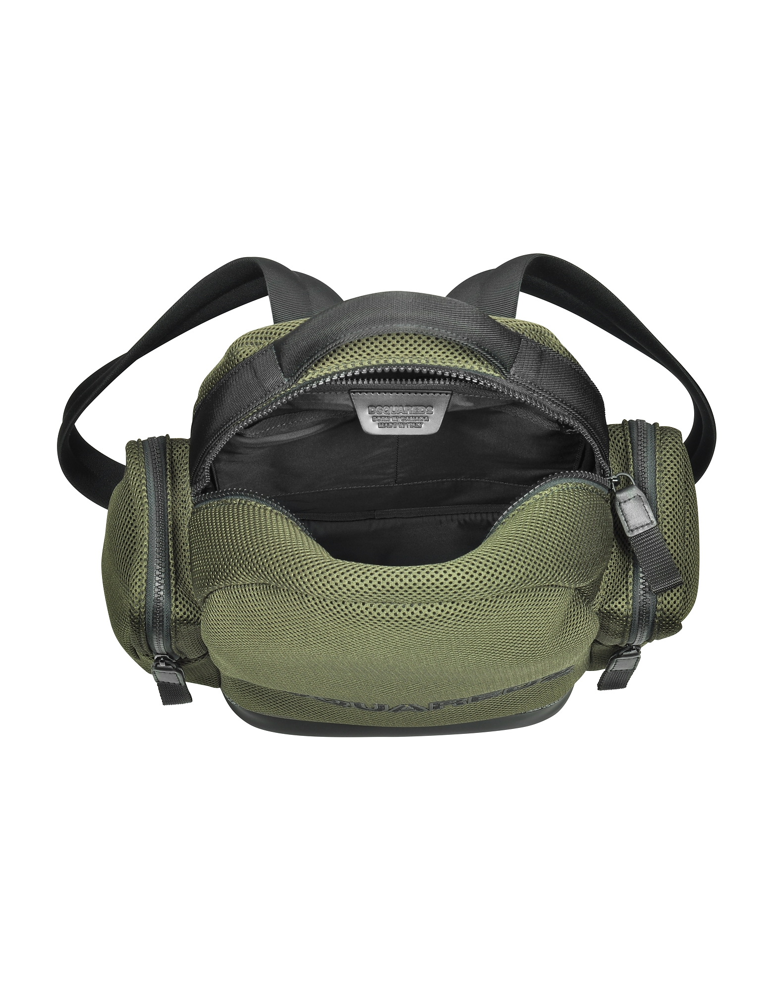 Khaki Mesh Fabric Signature Men's Backpack w/Black Accents от Forzieri.com INT