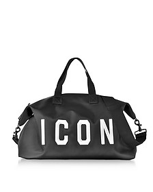 Icon Black Techno Fabric Men's Duffle Bag - DSquared2
