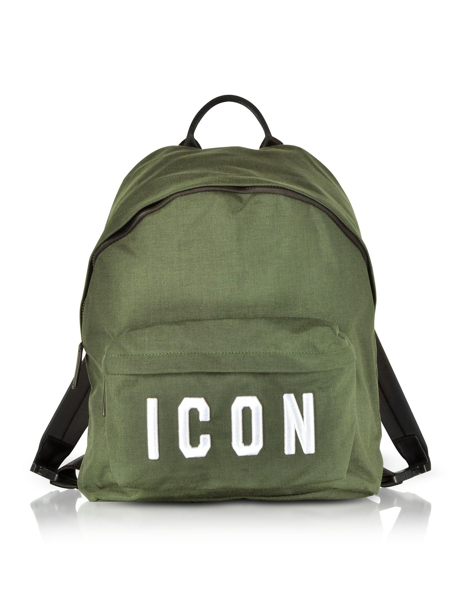 Icon Khaki Nylon Medium Backpack