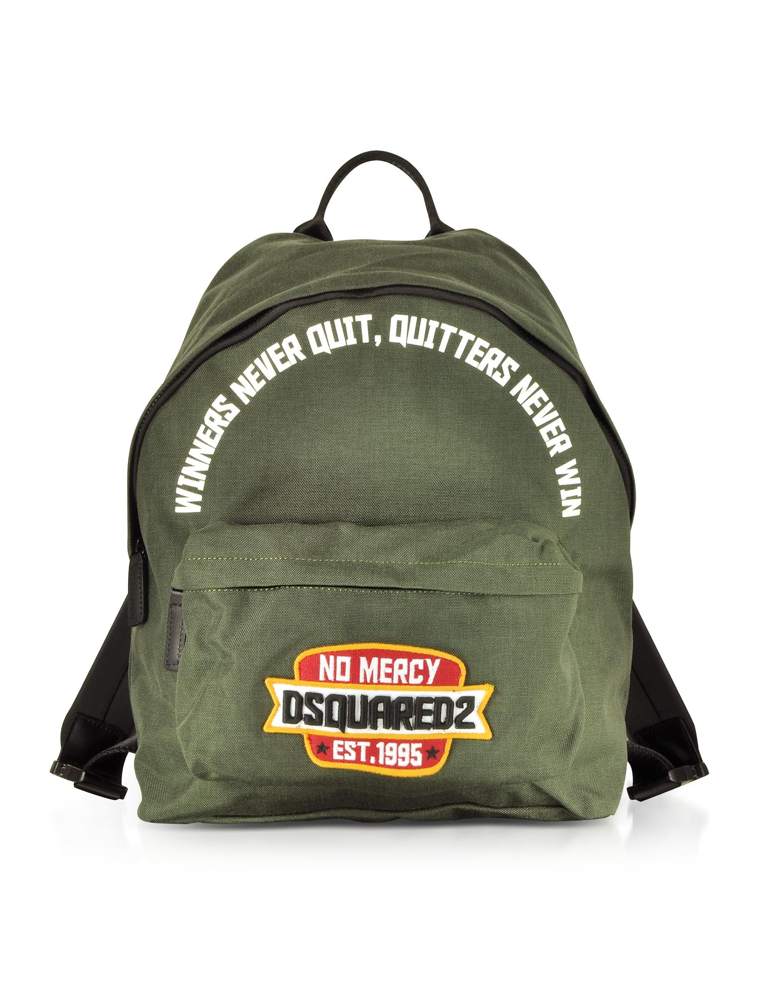 Khaki Nylon Medium Backpack w/No Mercy Patch