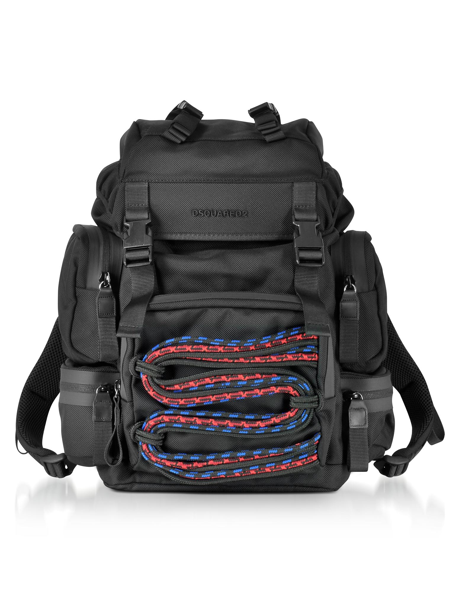 DSquared2 Backpacks, Akira Small Black Fabric Men's Backpack