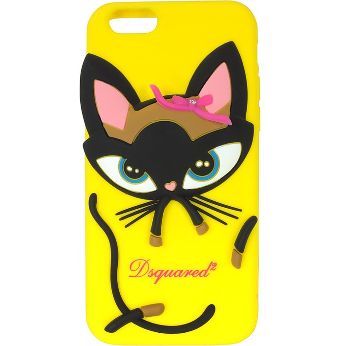 Yellow Silicone iPhone 6 Cover - DSquared2