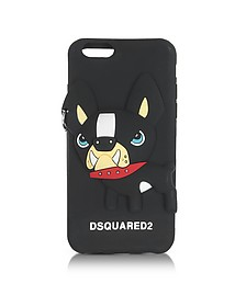 Black Silicone iPhone 6 Cover w/Dog - DSquared2