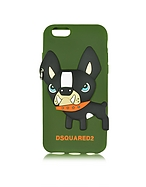DSquared2 Custodia per iPhone 6 in Silicone Verde Militare con Bouledogue 3D - dsquared2 - it.forzieri.com