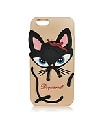 DSquared2 Custodia per iPhone 6 in Silicone Rosa con Gatto - dsquared2 - it.forzieri.com
