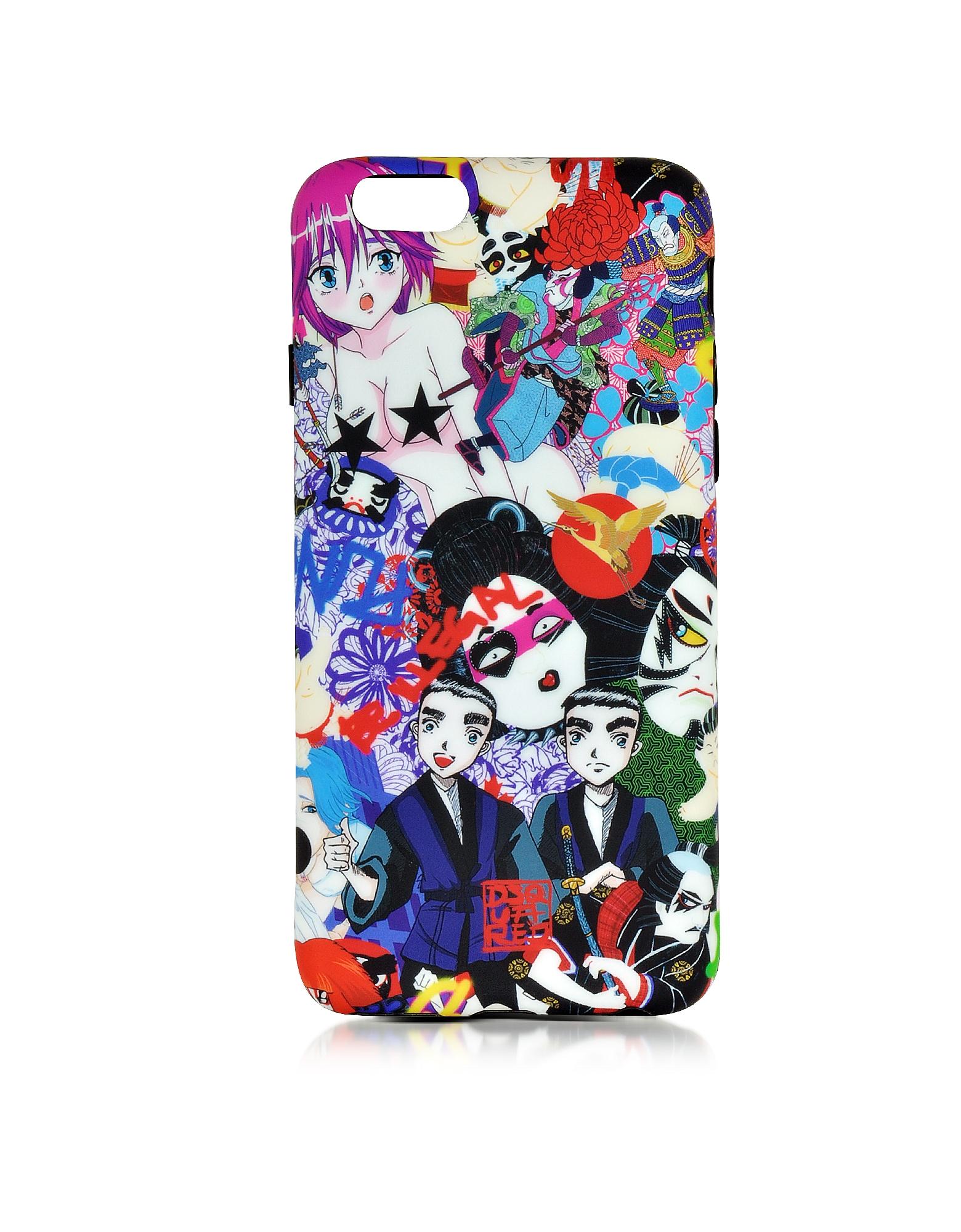 Разноцветный Силиконовый Футляр для iPhone 6 с Принтом Manga