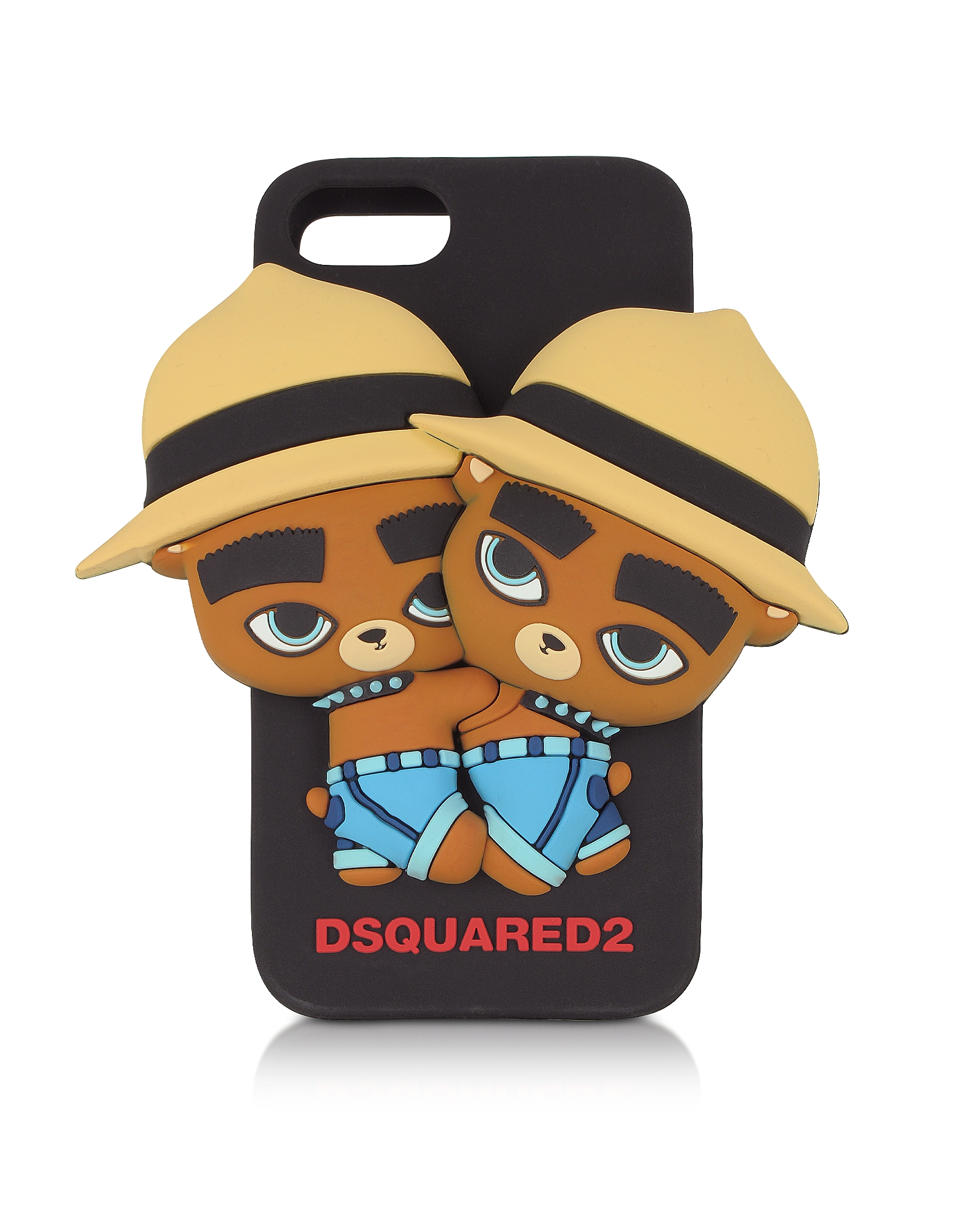 DSquared2 Handbags, Black Silicone iPhone 7 Cover