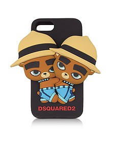 Black Silicone iPhone 7 Cover - DSquared2