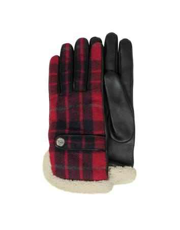 Wool Leather and Shearling Men's Gloves w/Cashmere Lining