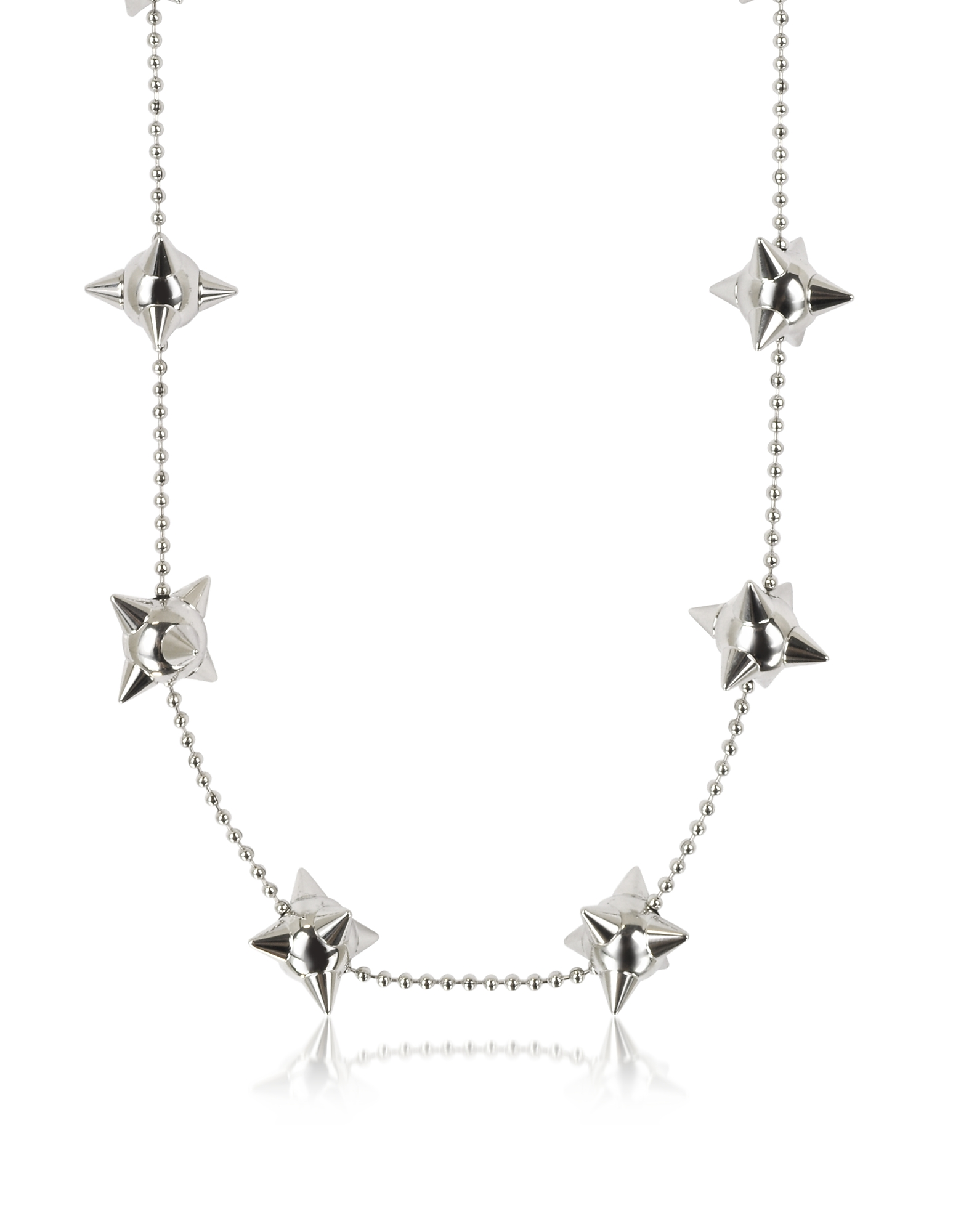 DSquared2 Designer Necklaces, Pierce Me Palladium Plated Metal Spiked Chain Necklace