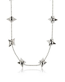Pierce Me Palladium Plated Metal Spiked Chain Necklace - DSquared2