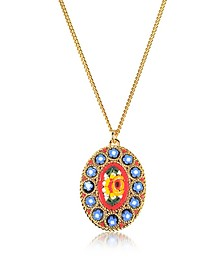 Golden Mosaic Pendant Necklace - DSquared2