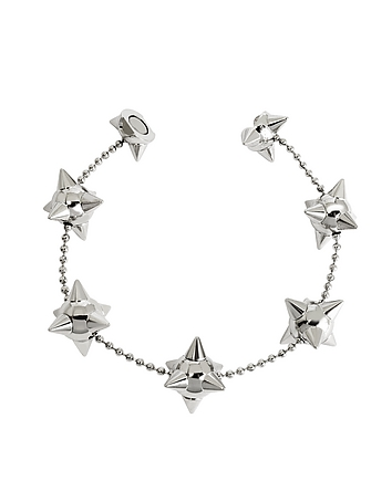 DSquared2 - Pierce Me Palladium Plated Metal Spiked Chain Armlet