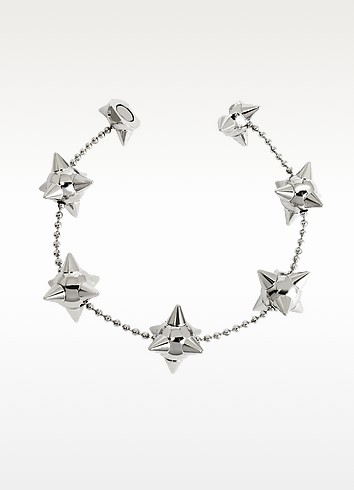 Pierce Me Palladium Plated Metal Spiked Chain Armlet - DSquared2