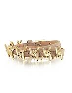 DSquared2 Babe Wire Braccialetto in Pelle Nude/Oro Chiaro - dsquared2 - it.forzieri.com