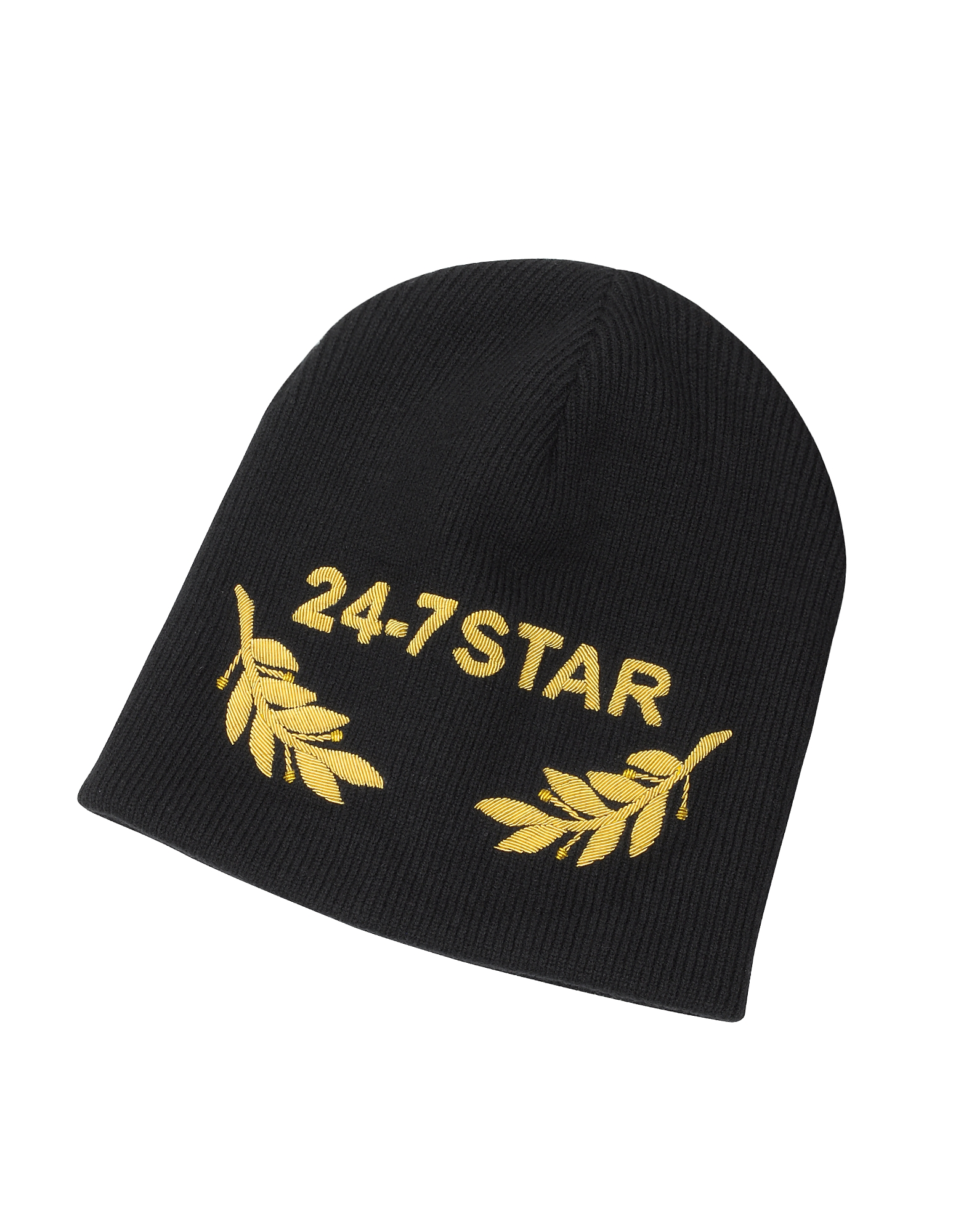 24-7 Star Icon Black Wool Beanie