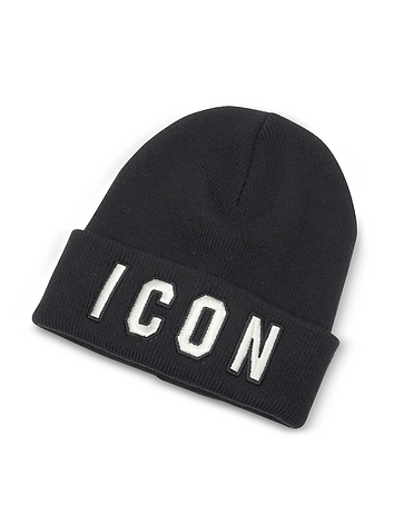 Embroidered Logo Wool Beanie dq310118-007-00