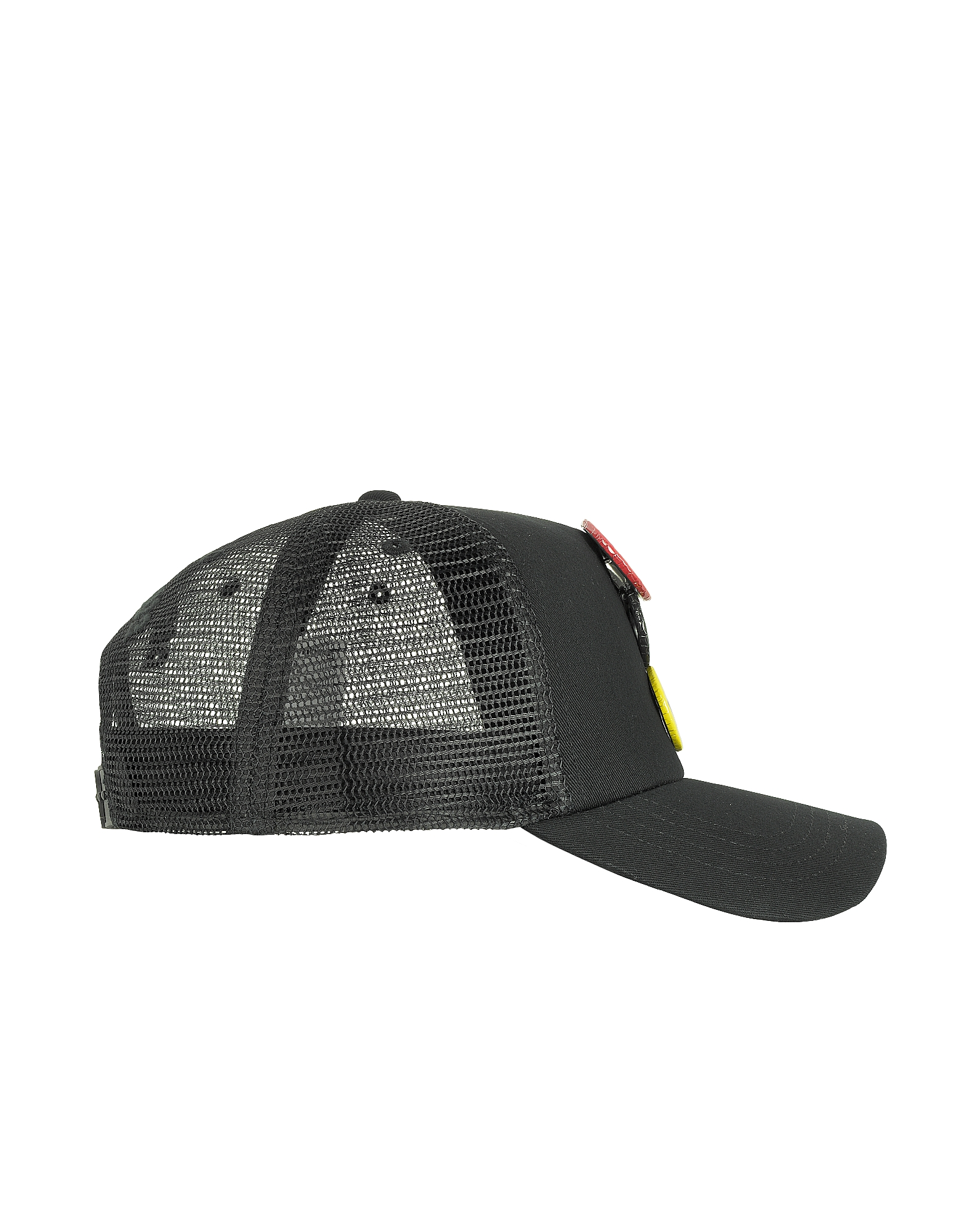 Black Gabardine Cotton Baseball Cap от Forzieri.com INT