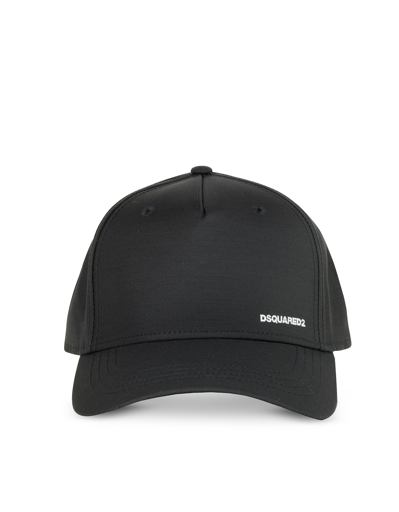 DSquared2 Designer Men's Hats, Men's Black Canvas Baseball Cap