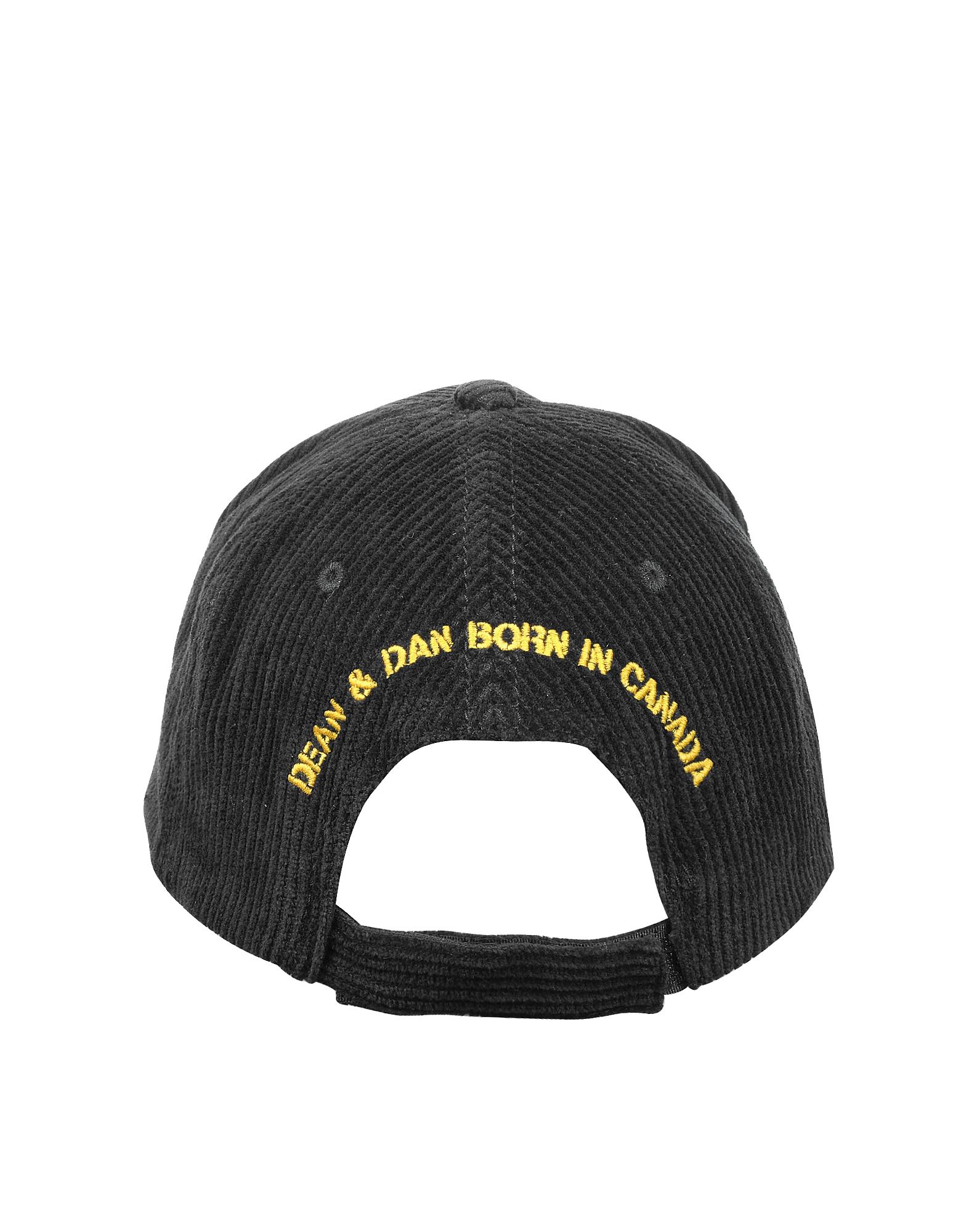 Punk Rock Black Cotton Baseball Cap от Forzieri.com INT