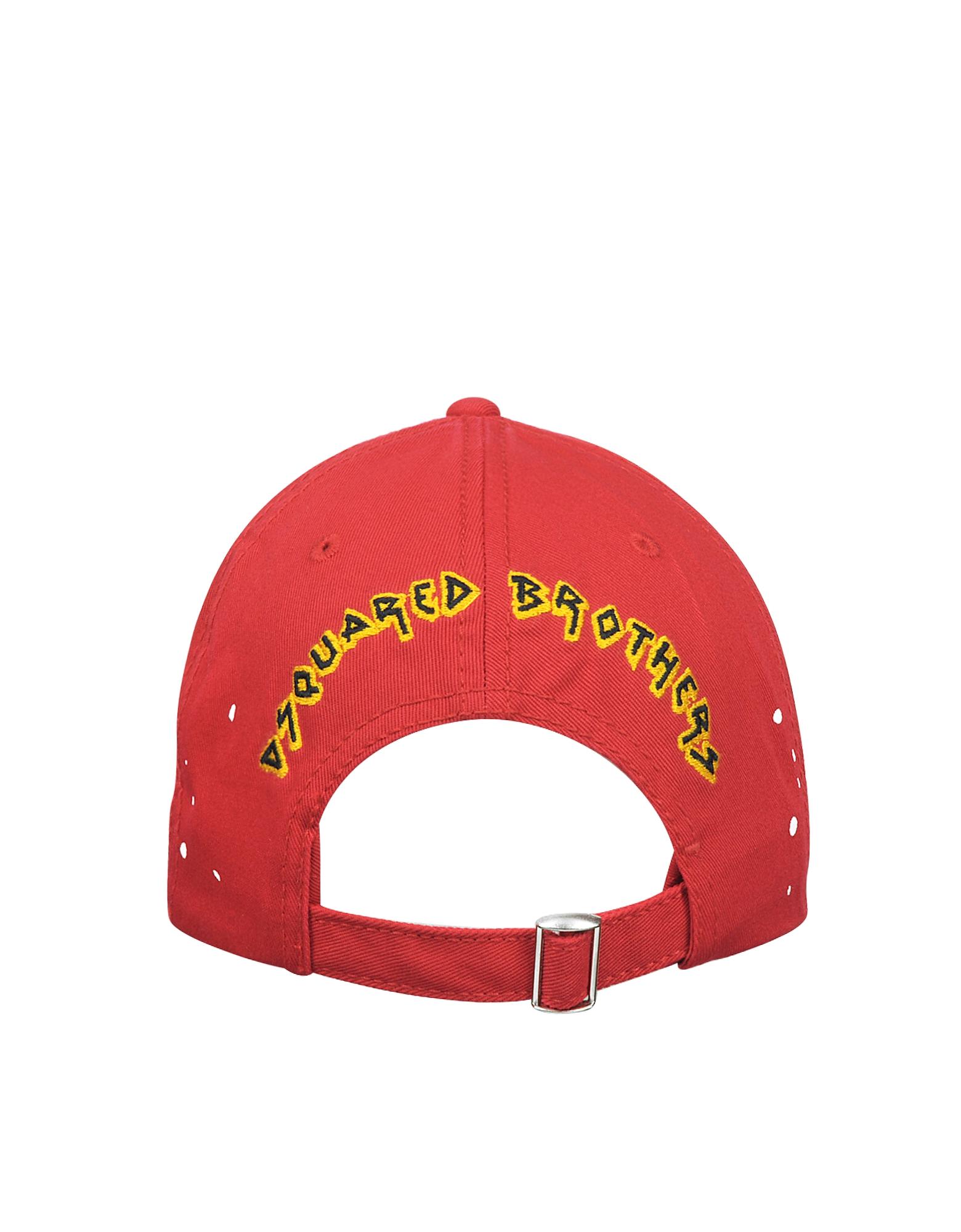 Caten band Red Cotton Baseball Cap от Forzieri.com INT