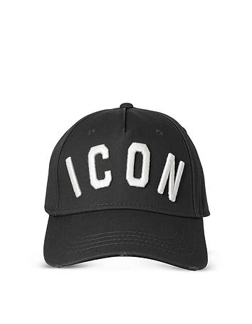 Black Icon Embroidered Baseball Cap dq310317-009-00