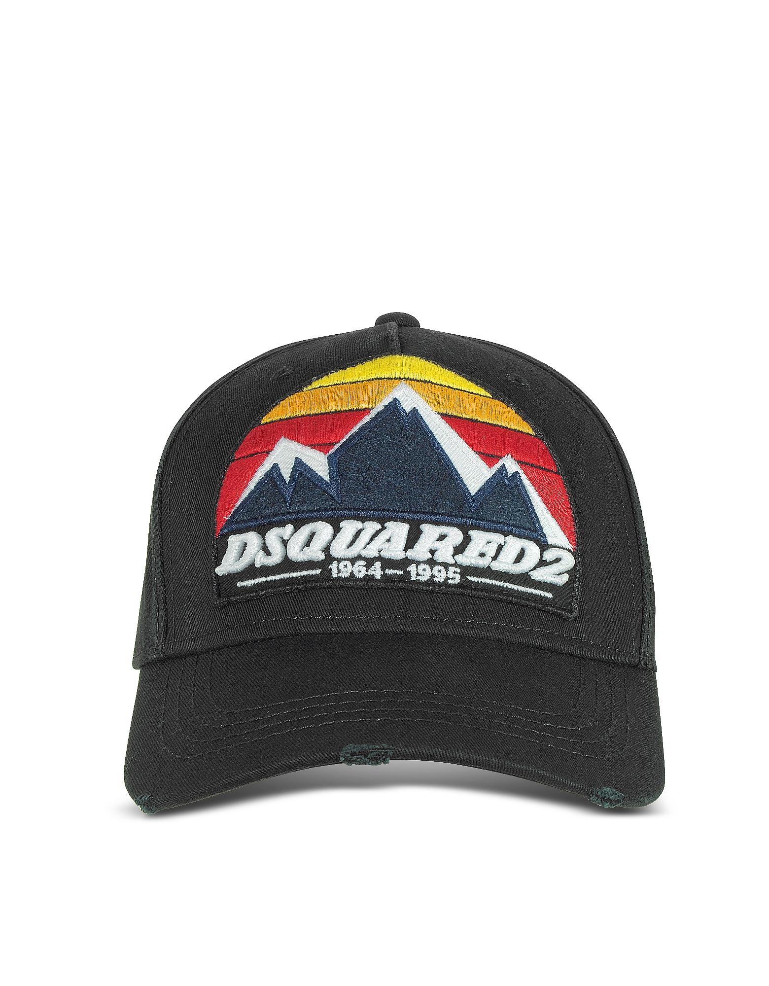 D2 Mountain - Черная Габардиновая Бейсболка