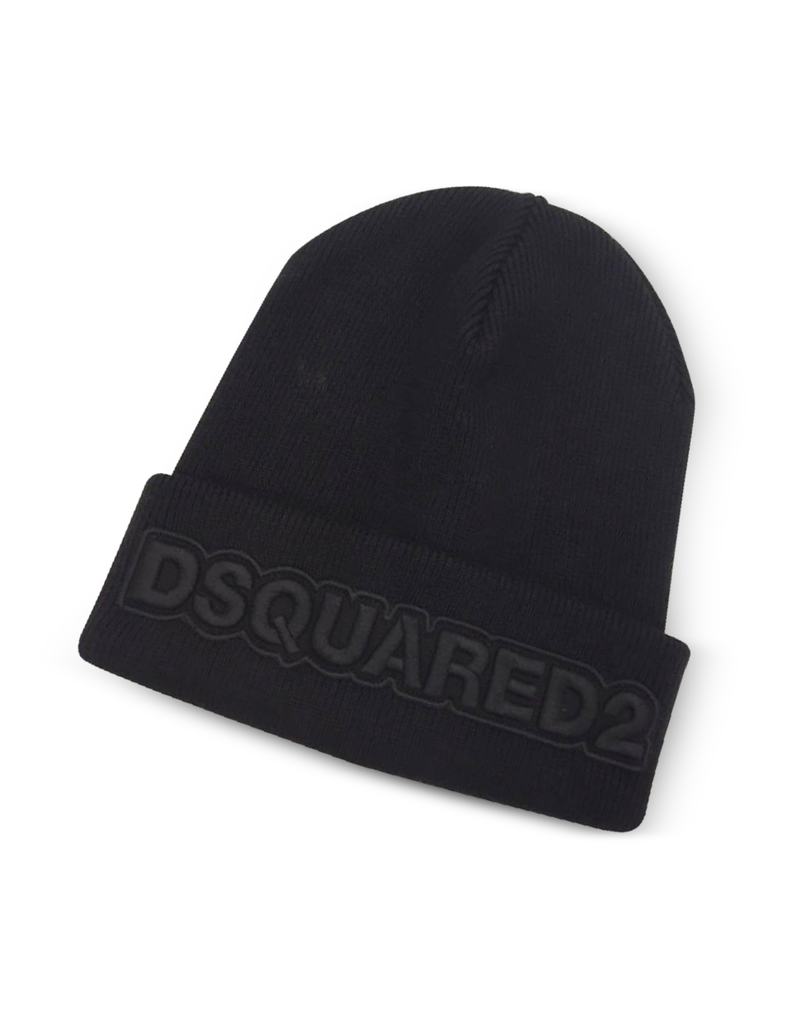 DSquared2 Men's Hats, Embroidered Logo Signature Wool Knit Hat